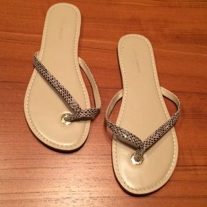 Banana Republic snakeskin sandals size 9
